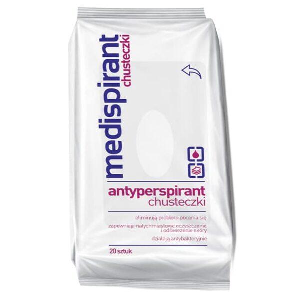 Medispirant antyperspirant chusteczki do higieny 20 sztuk